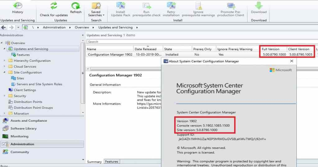 SCCM 1902 Production Upgrade - How To Manage Devices