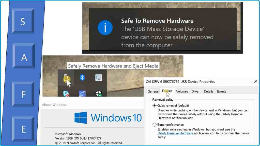 Remove USB Drive Safely