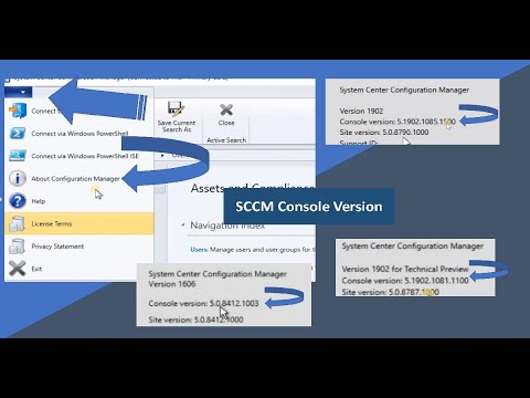 SCCM Console Version