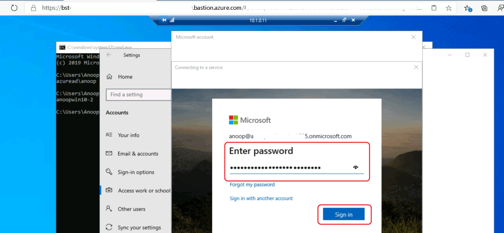 Provide the password of your workaround