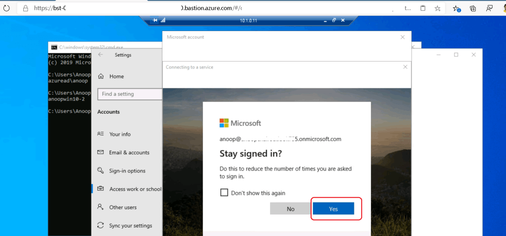 YES - Intune Enrollment Windows 10 Azure VM