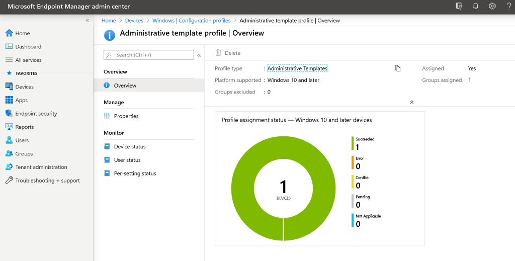 Create Deploy Group Policy Using Intune Administrative Template 2