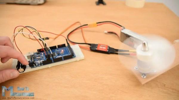 Controlling brushless motor using Arduino and ESC