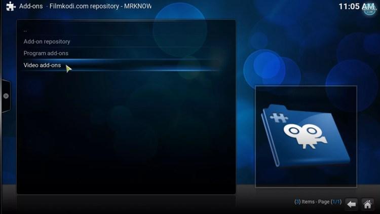 FilmKodi repository video addons