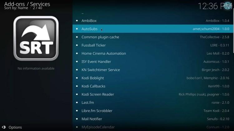 enable automatic subtitles on kodi 17 krypton with estuary skin