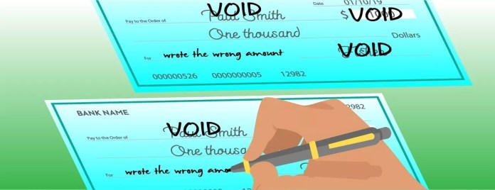 How to write a void check -Write the word Void 2