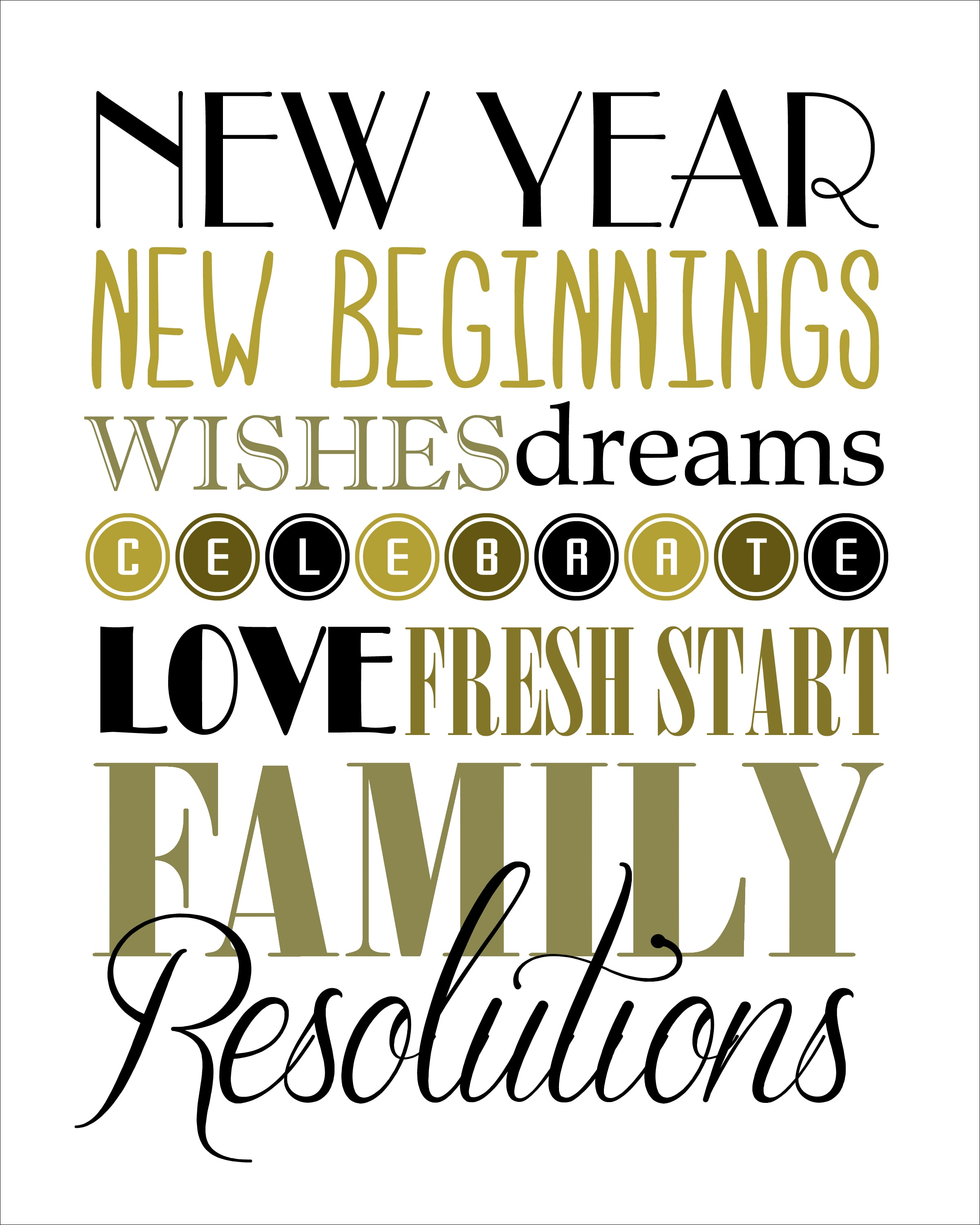 Happy New Year And Free Printable
