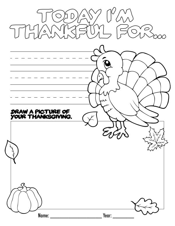 free thanksgiving coloring pages printable # 17