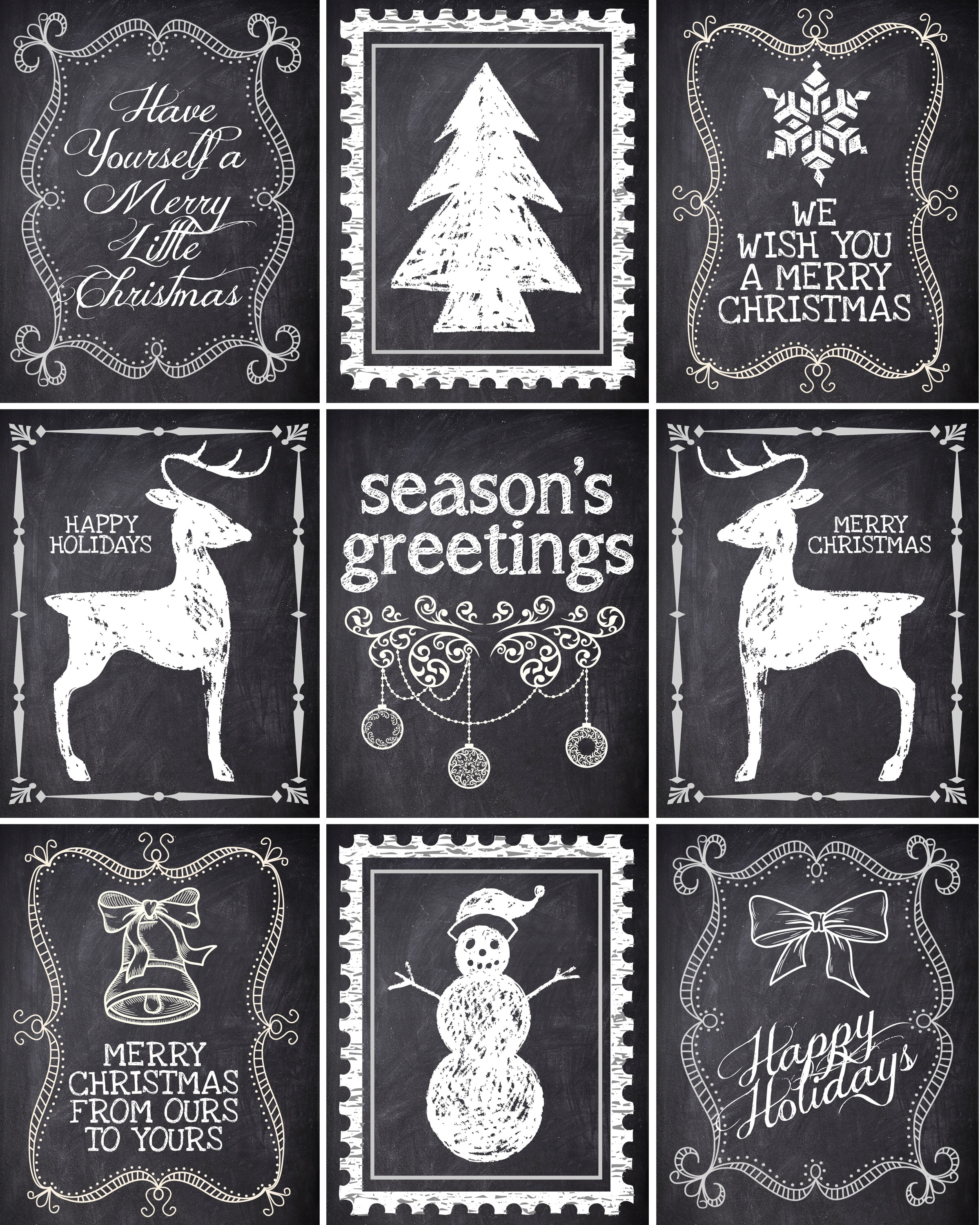 Christmas Chalkboard Labels Free Printable