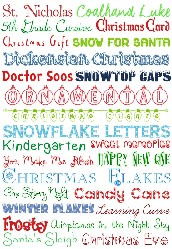 25 Christmas FREE Fonts How To Nest For Less