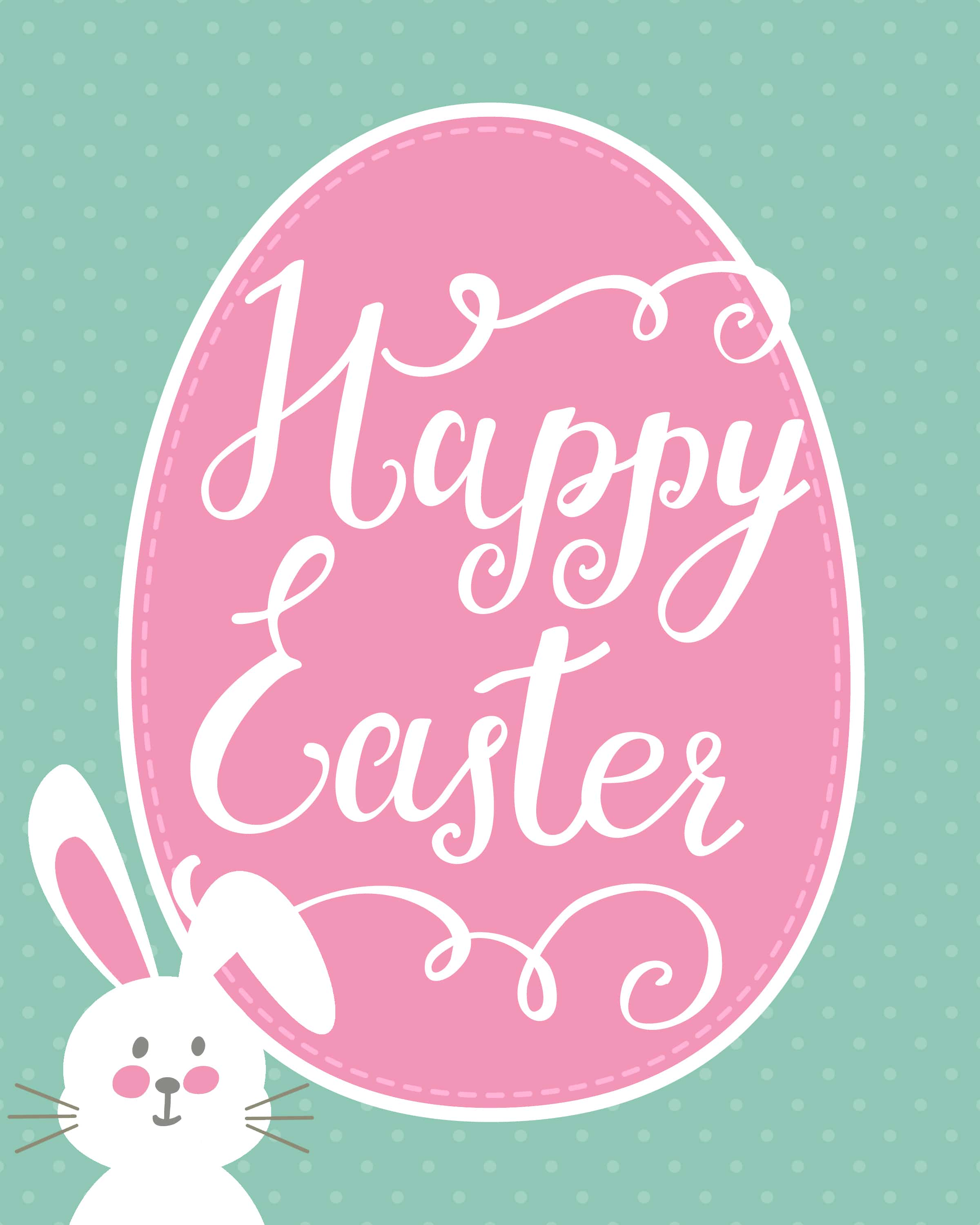 Happy Easter Bunny Printable