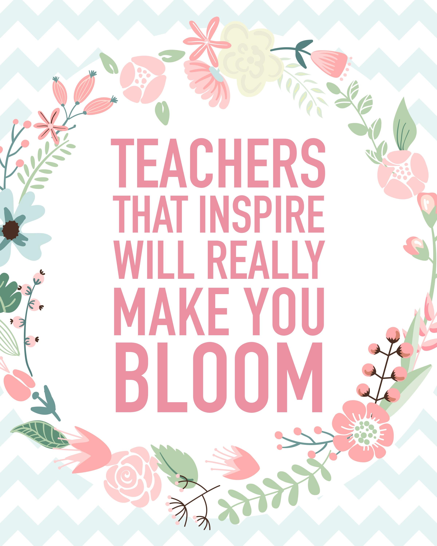 Teacher Appreciation Printable Blog Hop