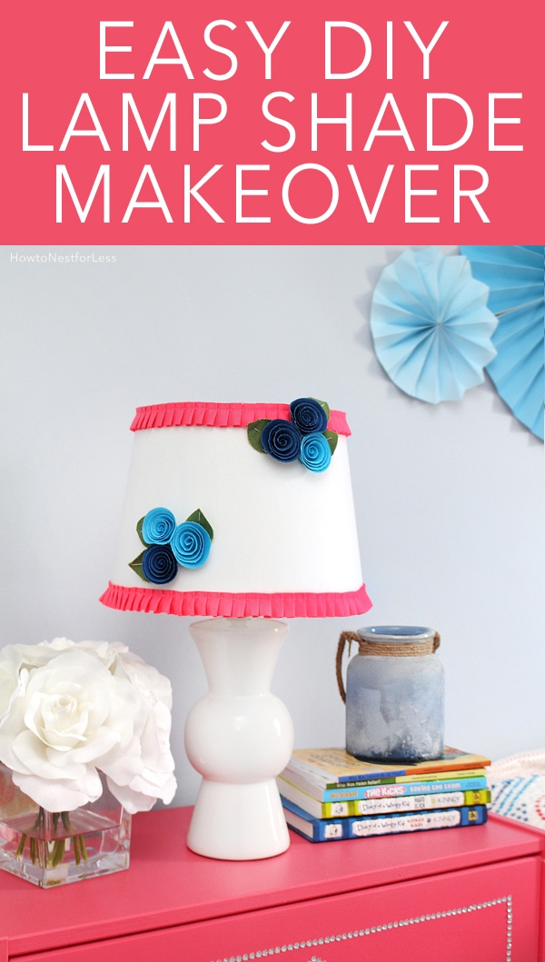 DIY Floral Ruffle Lamp Shade How To Nest For Less