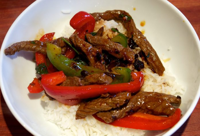 Beef with Black Bean and Chili Sauce