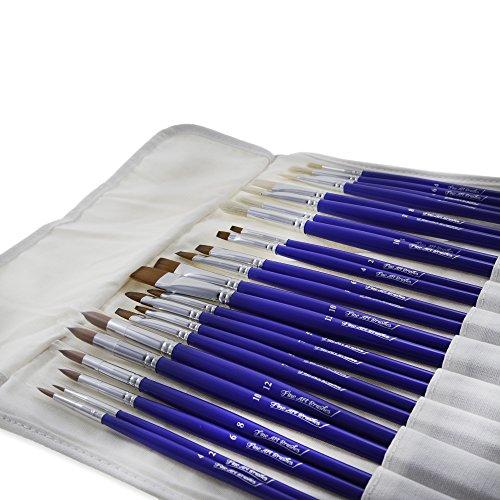 Fine Art Brushes 24 Piece Premium Quality