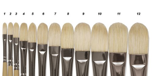 Robert Simmons Signet Brushes 2 filbert 42