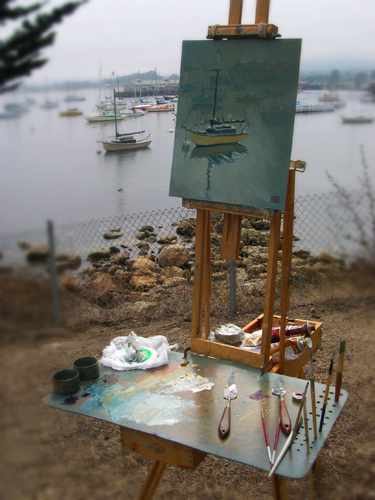 Painting at Monterey Harbor