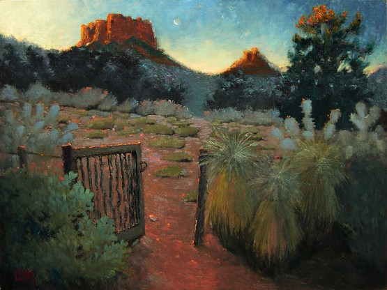 """A plein air painting done over multiple days called """"The First Few Moments""""."""