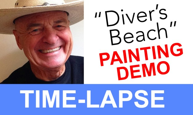 "Plein Air Painting Time-lapse Video of ""The Diver's Beach"""