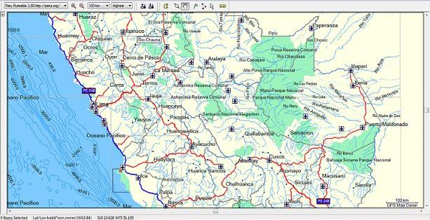The PeRut GPS Map of Peru - How to Peru