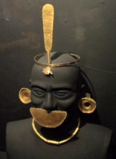 Moche gold ceremonial head pieces