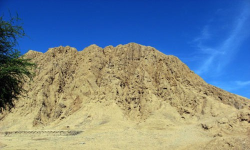 Lord of Sipan Peru - The hill which contains the sipans tomb