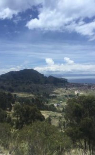 Peru Bolivia Border - Views on the journey from copacabana