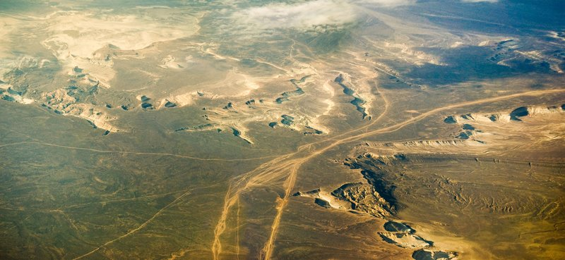 View of Nazca Lines From Flight