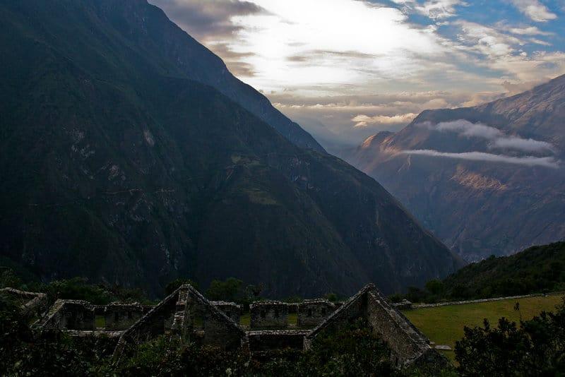 Alternatives to Machu Picchu - Choquequirao Sunset in Mountains