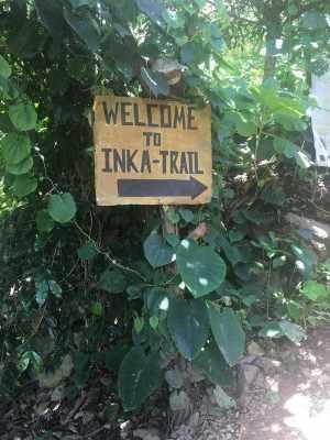 Inca Jungle Trek to Machu Picchu Sign