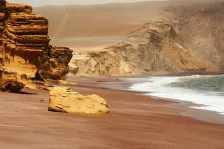 Beautiful Isolated Beach in Paracas Peru