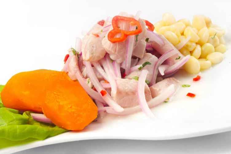 Peruvian national dish Ceviche in Chiclayo Peru