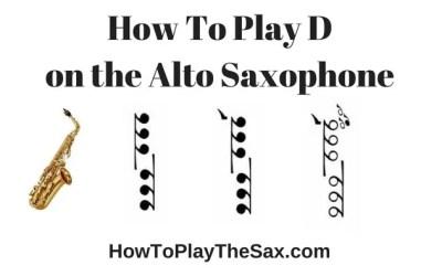 Notes On Alto Saxophone – D