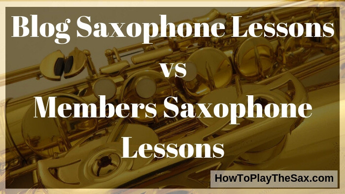Saxophone Lessons vs Members Saxophone Lessons