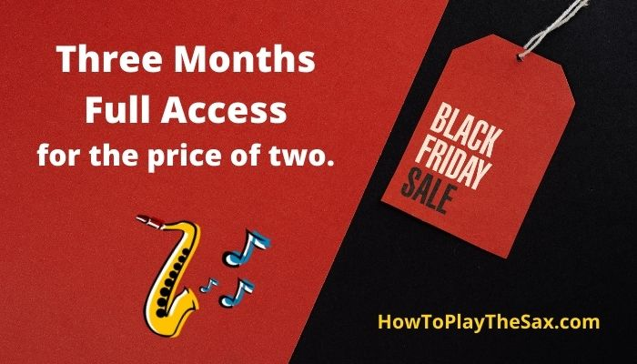 Black Friday Saxophone Lessons Sale