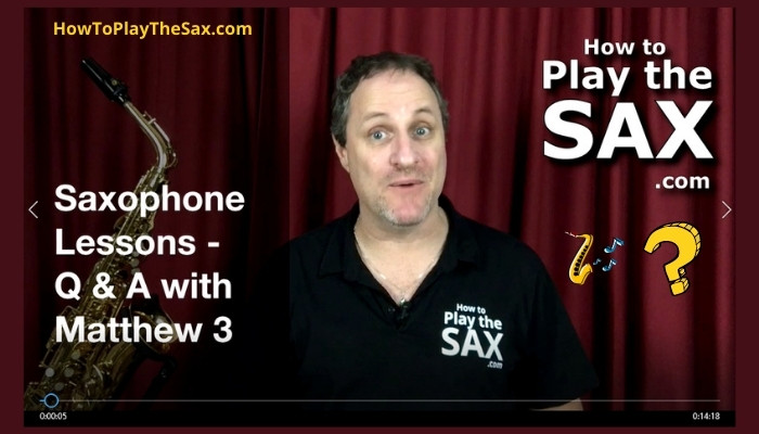 Saxophone Lessons Q and A 3
