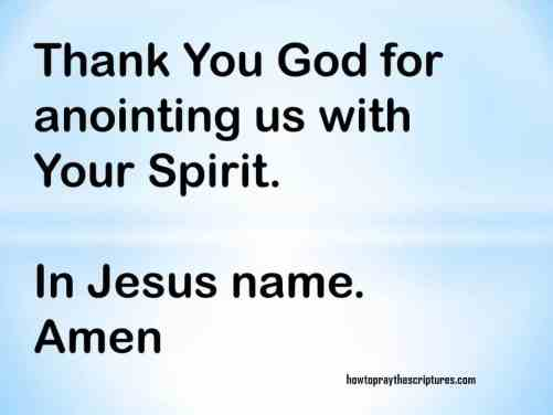 PRAYER: GOD I AM ANOINTED BY YOU