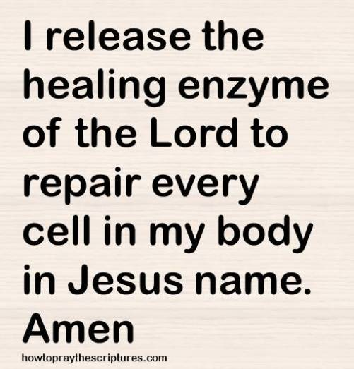 healing enzymes be released