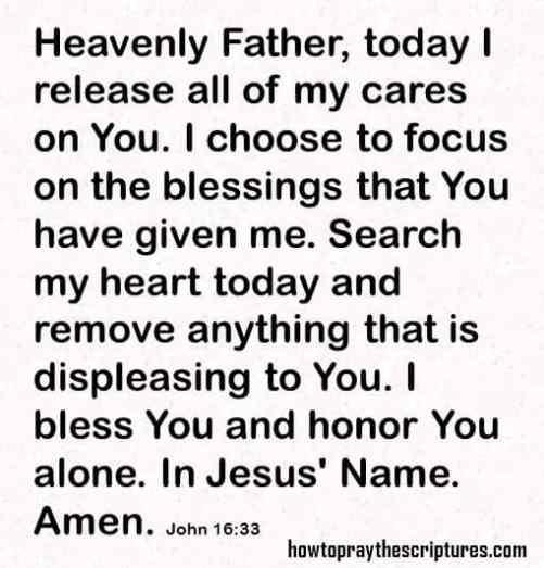 how to pray john 16-33