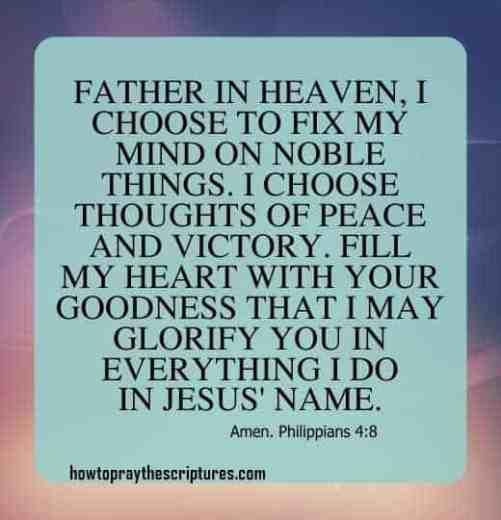 How To Pray Philippians 4:8