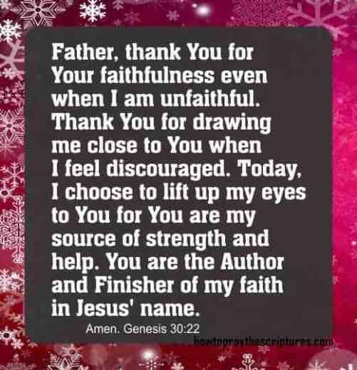 How To Pray Genesis 30:22