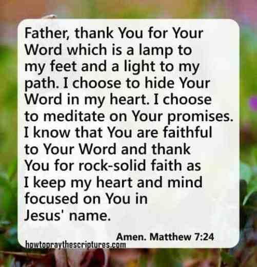 How To Pray Matthew 7:24