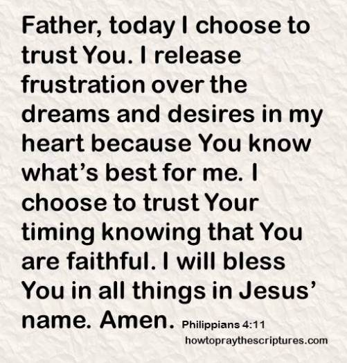 i choose to trust you philippians 4-11