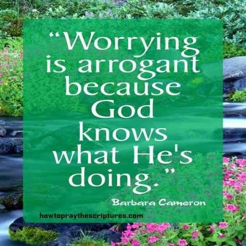 worrying is arrogant