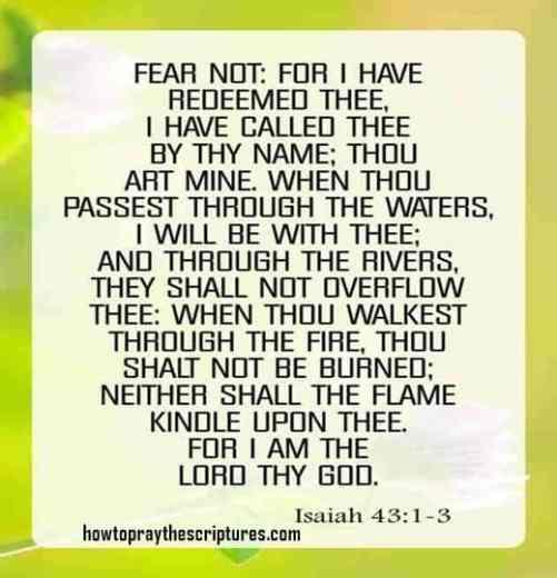 Isaiah 43:1-3 inspirational bible verses