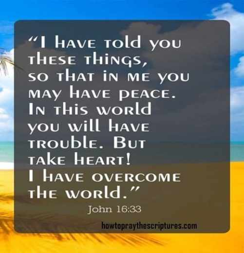 John 16:33 inspirational verses