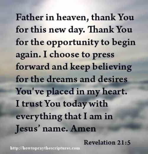 Prayer To Thank God For This New Day