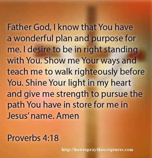 Prayer For God To Teach Me To Walk Righteously