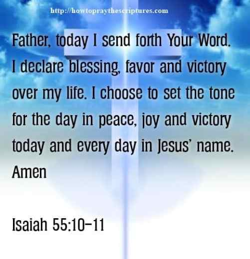 Prayer To Declare Blessing Over My Life