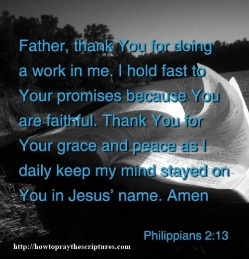 Pray To Hold Fast To Gods Promises